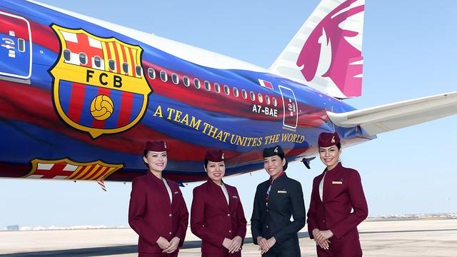 Aviao-Qatar-Barca-