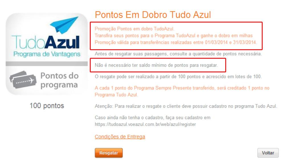 Acabei de acessar o site de resgate do Itaú Sempre Presente e está explicita a promoção até 31/03/2014.
