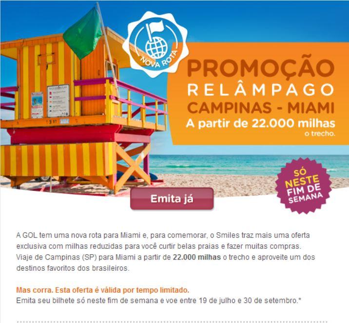 20140523 - Smiles Voos de Campinas para Miami